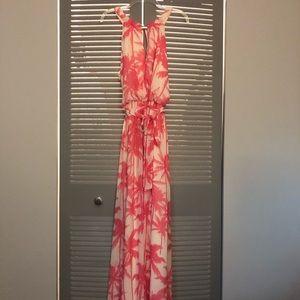 Palm Tree Maxi Dress 🌴🌺